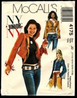 Vintage McCall`s Schnittmuster 4175  -  Junior Jacke Eng Anliegend Gefüttert   -  Size JD -  Größe 11-18 - Designermode