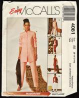 Vintage McCall`s Schnittmuster 4081  -  Misses-Miss Petite Shirt Jacke Tank Top Rock & Hose  -  Size BB -  Größe 8-14 - Designermode