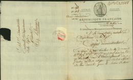 BELGIQUE LETTRE DATE DE DIXMUDE 14/07/1798 DOCUMENT ILLUSTRE (DD) DC-4475 - 1794-1814 (French Period)