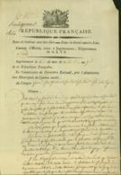 BELGIQUE LETTRE DATE DE INGELMUNSTER 25/09/1798 DOCUMENT ILLUSTRE (DD) DC-4476 - 1794-1814 (French Period)
