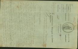 BELGIQUE LETTRE DATE DE BELLEGHEM 08/05/1798 DOCUMENT ILLUSTRE (DD) DC-4481 - 1794-1814 (French Period)