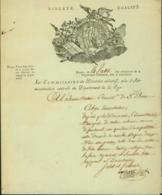 BELGIQUE LETTRE DATE DE BRUGES 04/03/1797 DOCUMENT ILLUSTRE SUPERBE (DD) DC-4484 - 1794-1814 (Période Française)