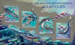 Central  Africa 2014   Prehistoric Water Animals - Zentralafrik. Republik