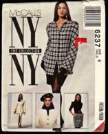 Vintage McCall`s Schnittmuster 6237  -  Damen-Jacke Gefüttert Und Damen-Rock Gefüttert  -  Size 6 - Designermode