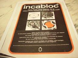 ANCIENNE  PUBLICITE L ANGE GARDIEN DE LA MONTRE INCABLOC 1969 - Bijoux & Horlogerie