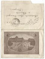 CARTE LETTRE FM ILLUSTRATION AU DOS LYON + HIRONDELLES TRESOR ET POSTES 73 11.2.1917 - Marcophilie (Lettres)