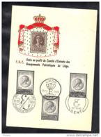 BELGIQUE , EMIS AU PROFIT DU COMITE D' ENTENTE DES GROUPEMENTS PATRIOTIQUE DE LIEGE 1965 . (3F79) - FDC