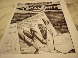 ANCIENNE PUBLICITE PRODUCTION AVEC TECALEMIT 1931 - Publicité