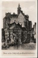 !  Alte Ansichtskarte Quedlinburg, Altes Schloss - Quedlinburg