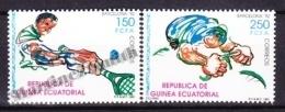 Equatorial Guinea -  Guinea Ecuatorial - Guinée Équatoriale 1991 Edifil 133- 34, Barcelona Olympic Games 1992 - MNH - Guinea Ecuatorial