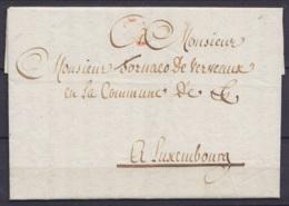 L. Datée 20 Mars 1798 De ROUVROY Près De Virton Pour Baron De Tornaco à LUXEMBOURG (futur Bourgmestre De Luxembourg - Vo - 1794-1814 (French Period)