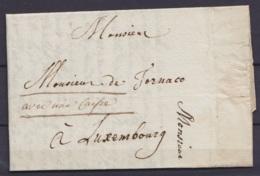 """L. Datée 27 Octobre 1796 De LIEGE Pour Baron De Tornaco à LUXEMBOURG  - Man. """"avec Une Carpe"""" (futur Bourgmestre De Luxe - 1794-1814 (French Period)"""