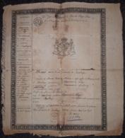 Passeport Délivré Par La Commune De BOMBAYE Daté 13 Février 1817 à Denis-Joseph Larue Pour Le Passage De Bombaye à Masey - Documents Historiques