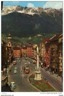 AUTRICHE  INNSBRUCK  Maria-Theresien Strasse M. Seegrube Und Hafrlekar 2334m.  ( TRAM)   2 Scans TBE - Innsbruck