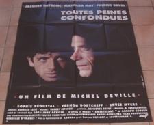 LOT 2 AFFICHES CINEMA ORIGINALES FILM Patrick BRUEL L'UNION SACREE TOUTES PEINES CONFONDUES DUTRONC BERRY TBE - Posters