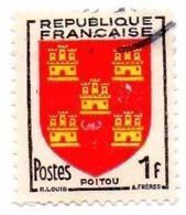 Blason Poitou - Oblitérés