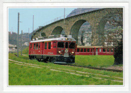 SVIZZERA    BRUSIO    TRAIN- ZUG- TREIN- TRENI- GARE- BAHNHOF- STATION- STAZIONI  2 SCAN  (NUOVA) - Trains
