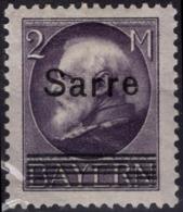 SAAR SARRE SAARLAND POSTE  28 * MLH Prince Régent Luitpold 1920 Surchargé (CV 130 €) - 1920-35 League Of Nations