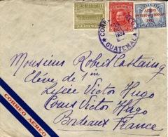 1932- Enveloppe Par Avion Affr. à 21 Centavos Pour Bordeaux - Guatemala