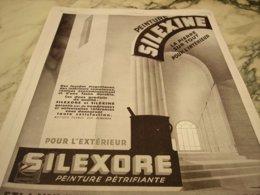 ANCIENNE PUBLICITE PEINTURE SILEXINE  1929 - Publicité