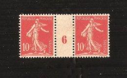 France Millésime N° 134 Type II Neuf Avec Charniére Variété Pas Courante Impression Du 6 Recto Verso - Millésimes