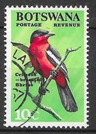 Crimson-breasted Shrike. N°177 Chez YT. (Voir Commentaire) - Botswana (1966-...)