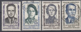 +France 1958. Héros De La Résistance. Yvert 1157-60. Oblitérés. Cancelled. - Oblitérés