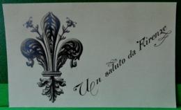 Cpa ITALIE FLORENCE . UN SALUTO DA FIRENZE .  FLEUR DE LYS . EDIT. N.P.G. ITALY OLD PC - Firenze (Florence)