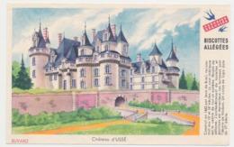 Buvard 14.9 X 9.5 Biscottes Allégées GREGOIRE Château D'Ussé - Biscottes