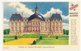 Buvard 14.9 X 9.5 Biscottes Allégées GREGOIRE Château De Vaux-le-Vicomte (Seine-et-Marne) - Biscottes