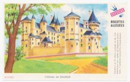 Buvard 14.9 X 9.5 Biscottes Allégées GREGOIRE Château De Saumur - Biscottes