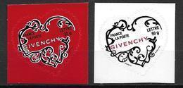 France 2007 Timbres Adhésifs Neufs** N°102/103 Saint Valentin Givenchy Cote 22 Euros - France