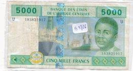 Billets-B3726 -5000francs Afrique Centrale (type, Nature, Valeur, état... Voir 2 Scans) - Banconote
