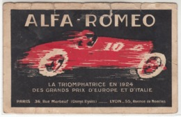 AUTO CAR VOITURE ALFA ROMEO - CARTOLINA ORIGINALE PUBBLICITARIA - Cartes Postales