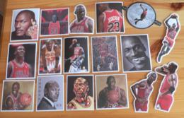 THEME BASKET-BALL : LOT DE 17 AUTOCOLLANTS MICHAEL JORDAN - NEUFS & DIFFERENTS - Basketball - NBA