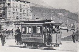 Tram St. Moritz. Repro Photo 8 X 5 Cm. No Postcard. - Suisse
