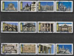 2019 FRANCE Adhesif 1671-82 Oblitérés, Cachet Rond, Architecture , Série Complète - Autoadesivi