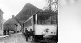 MARIGNAC: Superbe Photo,support Cartonné,17x13 Cm-Convoi à L'Arret-Motrice N° 2,à Gauche Deux Douaniers, 1915,tbe - Stations With Trains