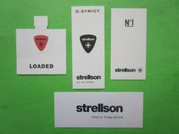 STRELLSON -  4 Cartes Parfumées - Perfume Cards