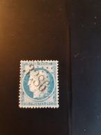 N°60 B,  25 Cts Bleu , GC 3386, Serent, Morbihan. - Marcophilie (Timbres Détachés)