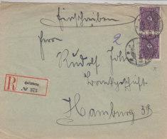 R-Brief Aus HEILSBERG Ostpreussen 4.5.22 Nach Hamburg - Germany