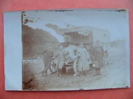Photo Carte Camion Du 8ème Génie Compagnie Télégraphique à Nicha Serbie 1919 Armée Française - 1914-18