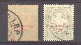 0ob 475  - Allemagne  -  Bavière  -  Taxes  :  Mi  11 B X+y  (o)  Wz 4 Horizontal - Bavière