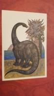 Diplodocus - Rare Old Soviet Dinosaur Serie - Old USSR Postcard 1969  Diplodocid Sauropod Dinosaurs - Altri