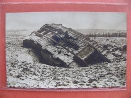 Photo Carte Serbie 1918 Tank Détruit Pendant L'avance - 1914-18