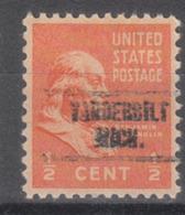 USA Precancel Vorausentwertung Preo, Locals Michigan, Vanderbilt 734 - Vereinigte Staaten