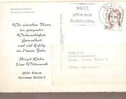 Germany & Marcofilia, Nordseebad Büsum, Winterruhe Im Kutterhalten, Warstein 1993 (7784) - Storia Postale