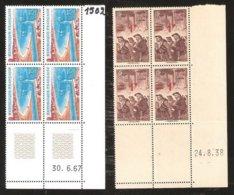 France Coins Datés N°489 Et 1502 NSCH MNH Années 1939 Et 1967 - Coins Datés