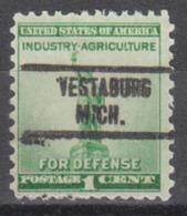 USA Precancel Vorausentwertung Preo, Locals Michigan, Vestaburg 734 - Vereinigte Staaten