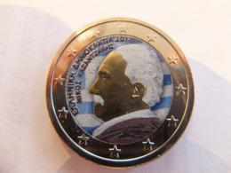 2 Euros Commémorative Colorisée Grèce 2017 Nikos Kazantzakis - Grèce